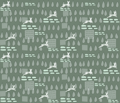 Run Rabbit Run. fabric by slumbermonkey on Spoonflower - custom fabric