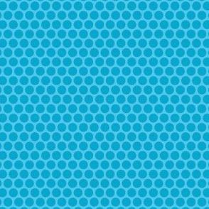 Turquoise Tone Honeycomb Dot