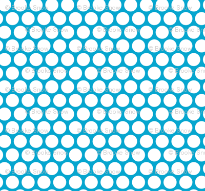 White Honeycomb Dot on Turquoise