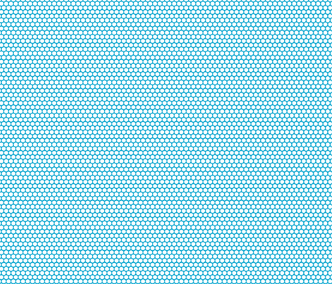 White Honeycomb Dot on Turquoise fabric by surlysheep on Spoonflower - custom fabric