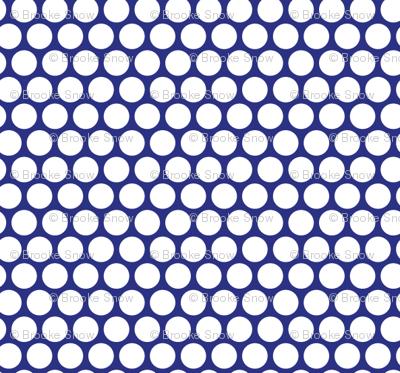 White Honeycomb Dot on Blueberry
