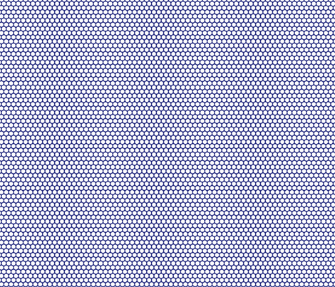 White Honeycomb Dot on Blueberry fabric by surlysheep on Spoonflower - custom fabric