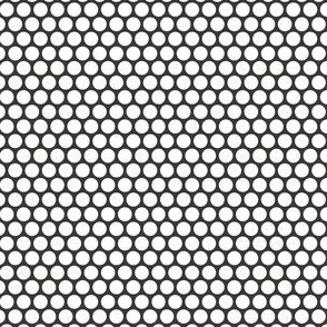 White Honeycomb Dot on Charcoal