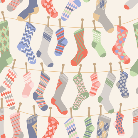 Socks fabric by laura_mooney on Spoonflower - custom fabric