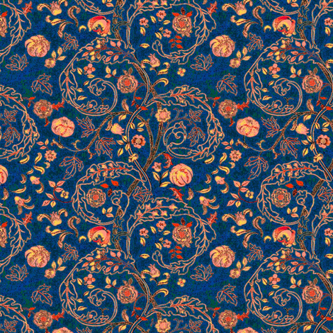 Embroidery Big Blue fabric by amyvail on Spoonflower - custom fabric