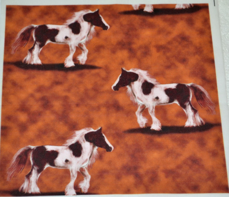 Gypsy Vanner Horse on mottled browns