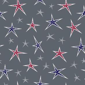 Patriotic Striped Stars