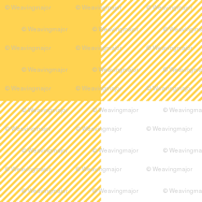 """Yellow and white 5/8"""" gingham check"""