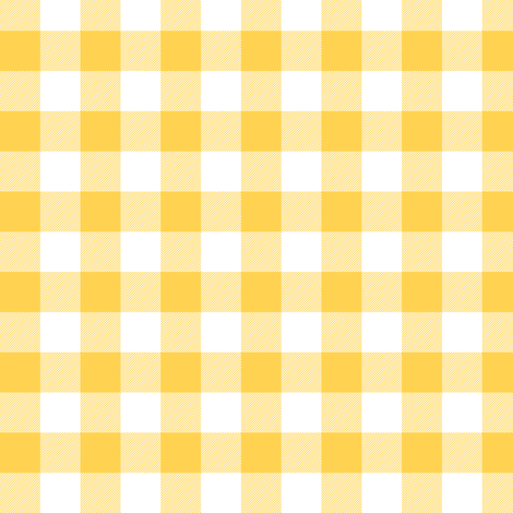"""Yellow and white 5/8"""" gingham check fabric by weavingmajor on Spoonflower - custom fabric"""
