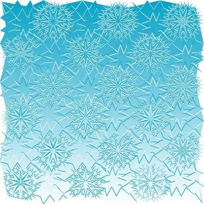 Icy StarBurst Quilt Aqua