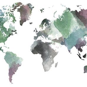 "Watercolor World-D  (56"" W)"