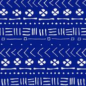 Tribal Drawing Deep Blue - Small