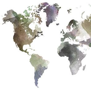 """Watercolor World-C  (56"""" W)"""