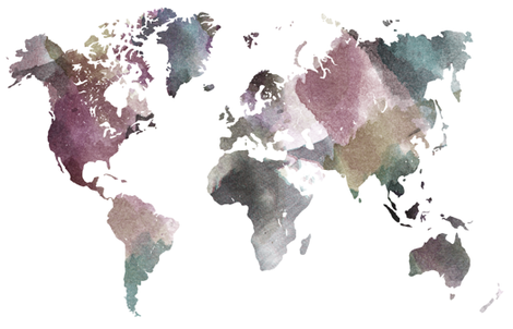 """Watercolor World-B  (28"""" W) fabric by thinlinetextiles on Spoonflower - custom fabric"""