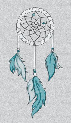 Dreamcatchers - Textured - southwestern Sky- teal, white, grey, blue