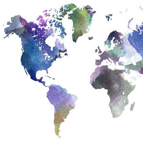 """Watercolor World (28""""W) // Vibrant"""