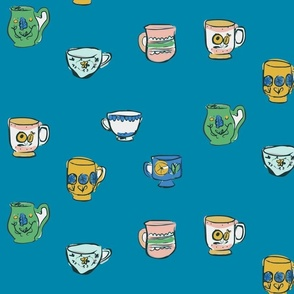 647. Teacups on Teal