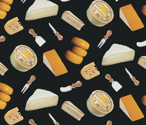 16-20D French Cheese France Paris Food picnic party wine_Miss Chiff Designs fabric by misschiffdesigns on Spoonflower - custom fabric