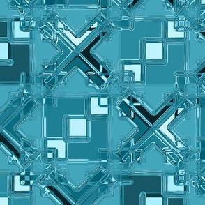 Diamond Tile Metallic Aqua