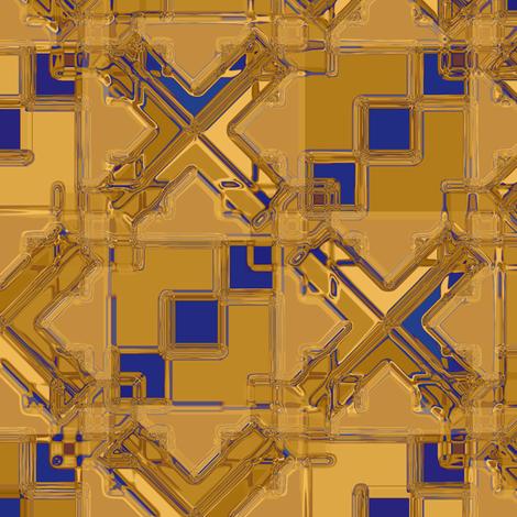 Diamond Tile Metallic Gold Blue/Purple fabric by deanna_konz on Spoonflower - custom fabric