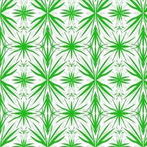 Lush Green Leafy Lacework - Small Scale