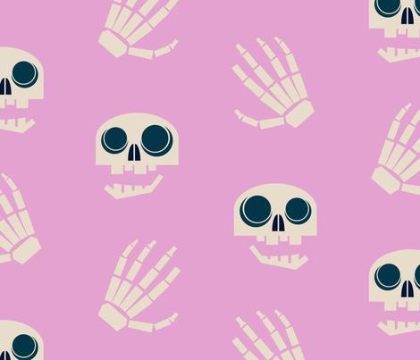 chatty skulls & hands fabric by abbieuproot on Spoonflower - custom fabric