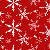 Snowflakes - Red, White
