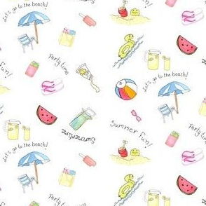 Summertime Fun in Watercolor