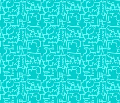 bunched up fabric by kimmurton on Spoonflower - custom fabric