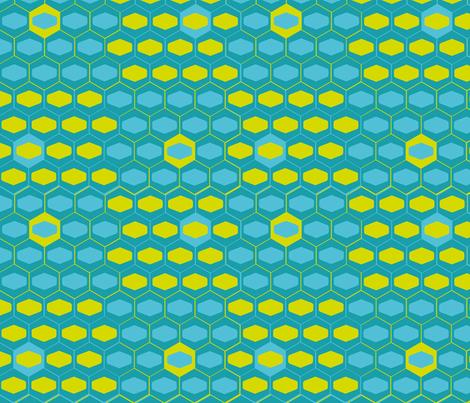hexagons fabric by ruthnijsten on Spoonflower - custom fabric