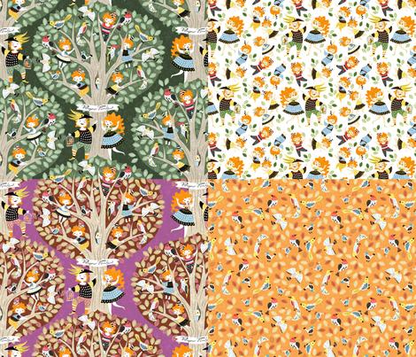 papageno-family-yard fabric by gaiamarfurt on Spoonflower - custom fabric