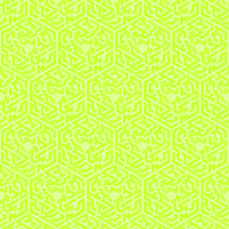 Maze Map in Peridot fabric by mel_micare on Spoonflower - custom fabric