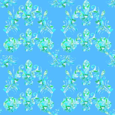 Blue Aqua Meditation fabric by cruzangirl on Spoonflower - custom fabric