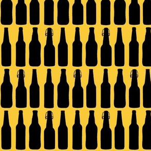 Beer Bottle Silhouettes on Pale Lager - Medium