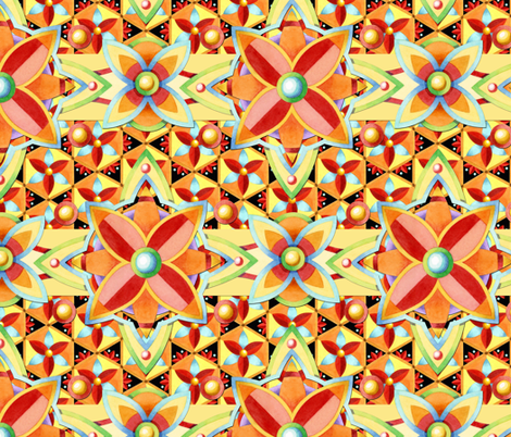 Suzani Boho Chic fabric by patriciasheadesigns on Spoonflower - custom fabric