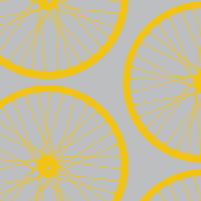 Yellow Wheels on Gray_Miss Chiff Designs