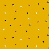 Triangles - tiny triangles, mustard, black and  white, burgundy || by sunny afternoon
