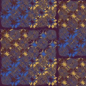 Starburst Metallic Blue Gold Purple Brown