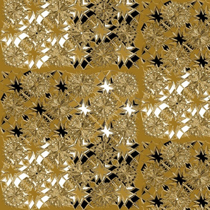 Starburst Metallic Gold Black White