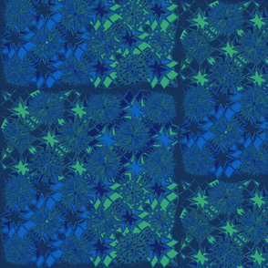 Starburst Metallic Green Blue Purple
