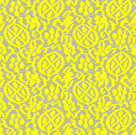 Kutsuwa Vine - Yellow, gray fabric by materialsgirl on Spoonflower - custom fabric