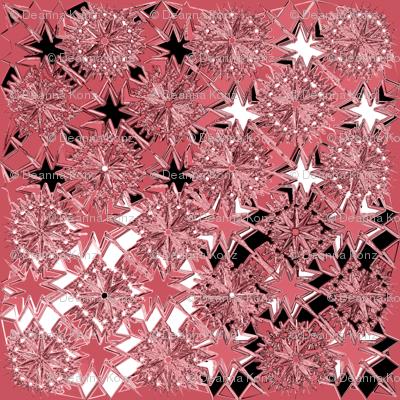 Starburst Metallic Pink Black White