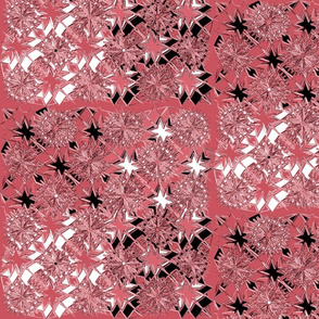 Starburst Metallic Pink Black White
