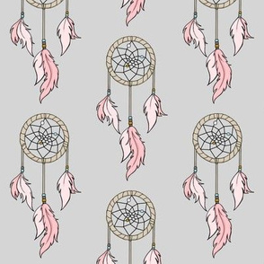 Dream catchers Small - Pink, Grey