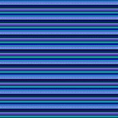 Bella Nina 8 - Horizontal Pinstripe - Variegated Blue, purple and teal