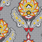 Gray Ikat_miss chiff Designs