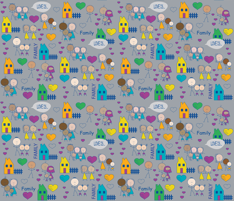 Love Is... Family fabric by lerhyan on Spoonflower - custom fabric