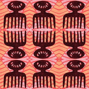 duafe african comb pattern