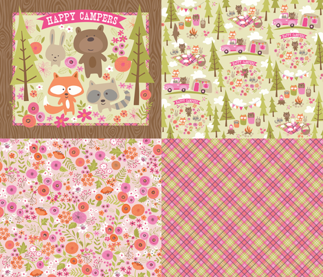 HAPPY CAMPERS fabric by bzbdesigner on Spoonflower - custom fabric