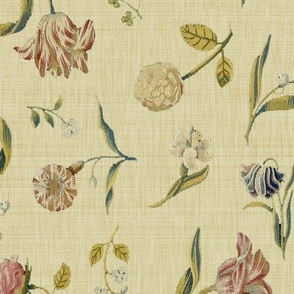Dutch Floral Tapestry ~ Sand Linen Luxe
